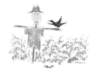 """Boo!"" - New Yorker Cartoon-James Stevenson-Premium Giclee Print"