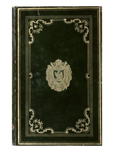 Book Binding with the Coat of Arms of Napoleon Bonaparte--Giclee Print