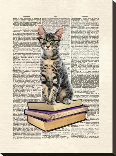 Book Cat-Matt Dinniman-Stretched Canvas Print