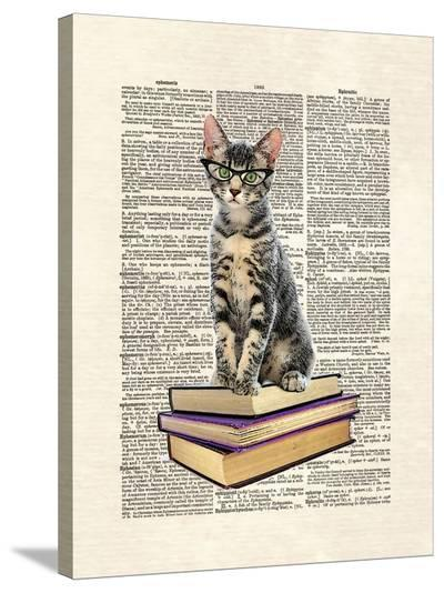 Book Cat-Matt Dinniman-Stretched Canvas Print
