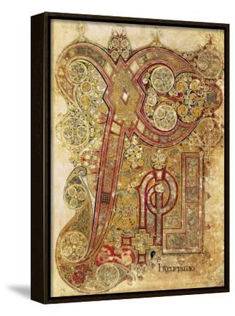 Book of Kells--Framed Canvas Print