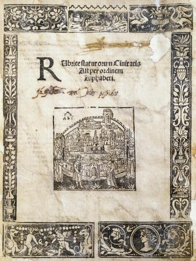 Book of Statutes of City of Asti, Italy--Giclee Print