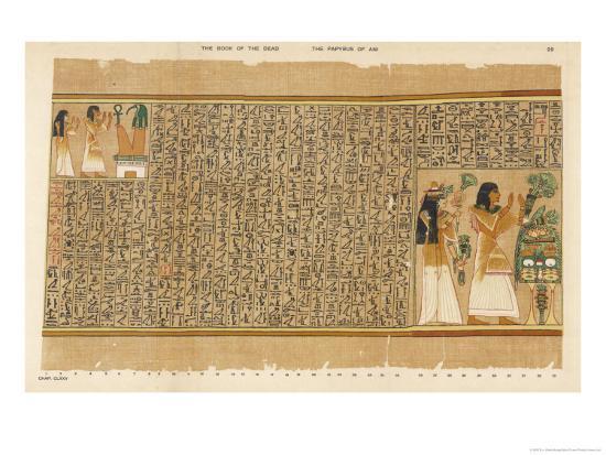 Book of the Dead: Ani and His Wife Tutu Adoring Thoth-E^a^ Wallis Budge-Giclee Print