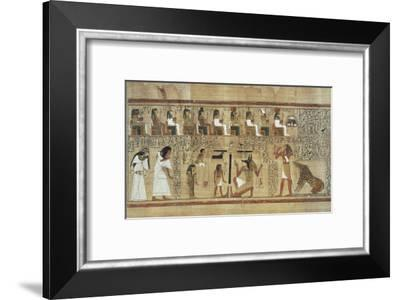 Book of the Dead or Papyrus of Ani--Framed Art Print
