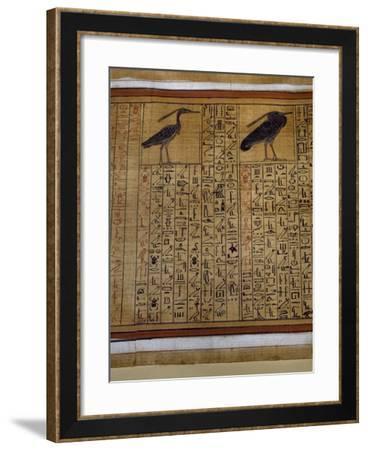 Book of the Dead, Tomb of Kha, Egypt--Framed Giclee Print