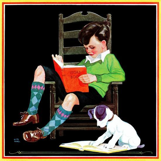 Book Report - Child Life-Keith Ward-Giclee Print