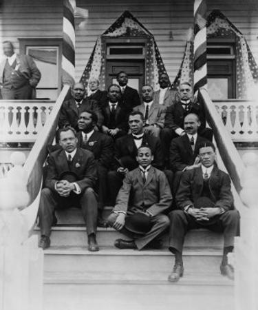 Booker T. Washington, Second Row, Center, with His Associates at Tuskegee Institute, 1915