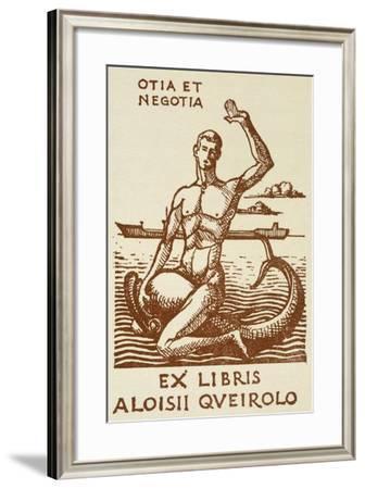 Bookplate--Framed Giclee Print