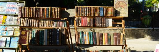Books at a Market Stall, Havana, Cuba--Photographic Print