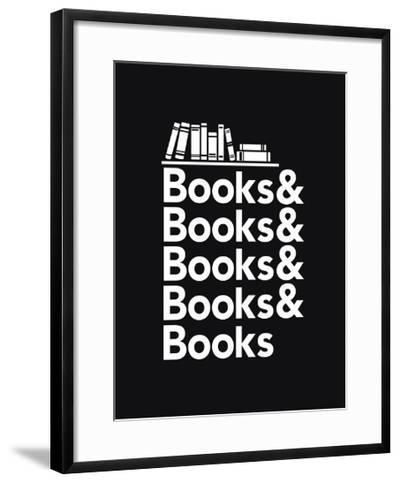 Books - Book Nerd Helvetica Typography- Boots-Framed Art Print