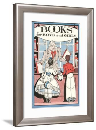 Books for Boys and Girls, Bookseller--Framed Art Print