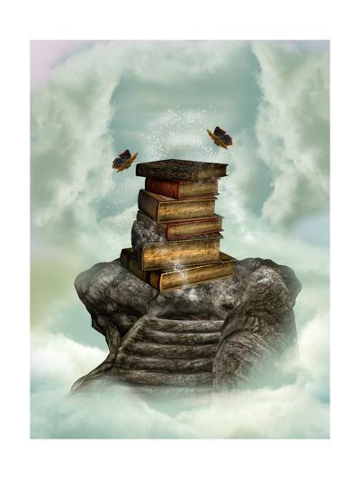 Books In The Sky-justdd-Art Print