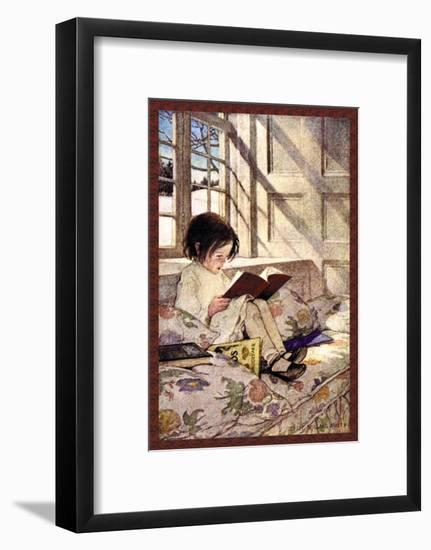 Books in Winter-Jessie Willcox-Smith-Framed Art Print