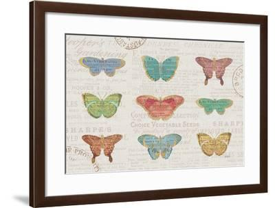 Bookshelf Botanical II-Katie Pertiet-Framed Art Print