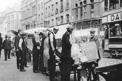 Bookstalls on Shoreditch High Street, London, 1926-1927- Whiffin-Giclee Print