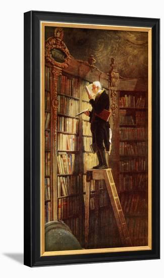 Bookworm-Carl Spitzweg-Framed Art Print