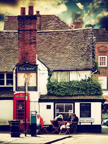 Boot Alley Sign - St Albans - The Boot Inn - London - UK - England - United Kingdom - Europe-Philippe Hugonnard-Photographic Print