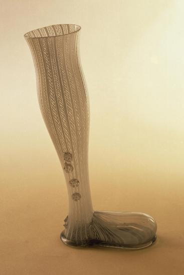 Boot-Shaped Beer Mug, Latticed Glass--Giclee Print