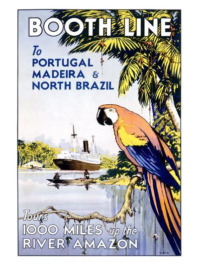 Booth Ocean Lines to Portugal--Giclee Print