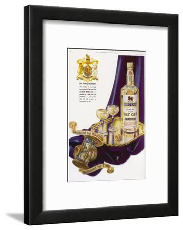 Booth's Finest Old Dry Gin - by Appointment--Framed Giclee Print