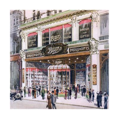 Boots, Regent Street--Giclee Print