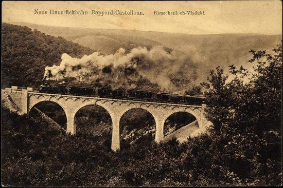 Boppard, Hunsrückbahn, Rauschenloch Viadukt,Dampflok--Giclee Print
