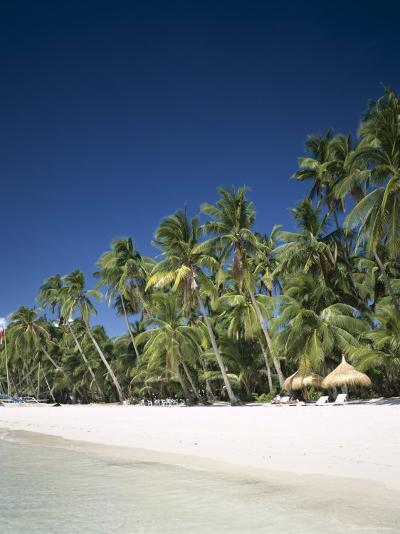 Boracay Beach, Palm Trees and Sand, Boracay Island, Philippines-Steve Vidler-Photographic Print