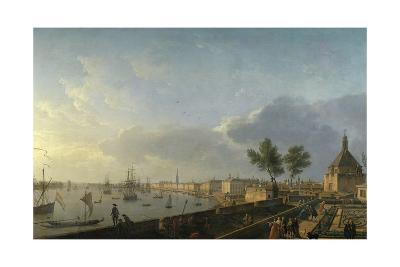 Bordeaux Harbor and the City Walls-Claude Joseph Vernet-Giclee Print