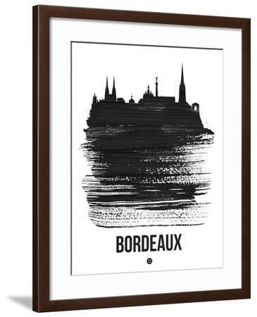 Bordeaux Skyline Brush Stroke - Black-NaxArt-Framed Art Print