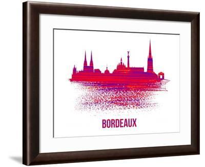 Bordeaux Skyline Brush Stroke - Red-NaxArt-Framed Art Print