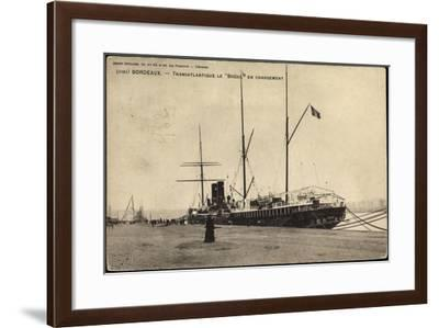 Bordeaux, Transatlantique Le Bresil En Chargement--Framed Giclee Print