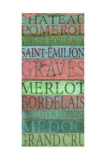 Bordeaux Wines-Cora Niele-Giclee Print