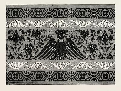 Border Satin-Stitch or Cross-Stitch Embroidery, 1882--Giclee Print