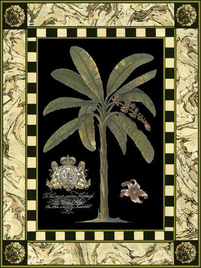 Bordered Palms on Black II--Art Print