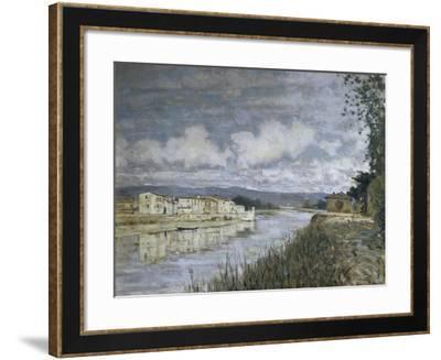 Bordering Arno, 1890-Telemaco Signorini-Framed Giclee Print