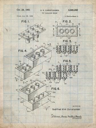 PP40 Antique Grid parchment