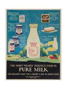Bordon Milk Advertising Poster