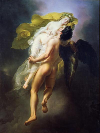 Boreas Abducting Oreithyia, 1822-Joseph Ferdinand Lancrenon-Giclee Print