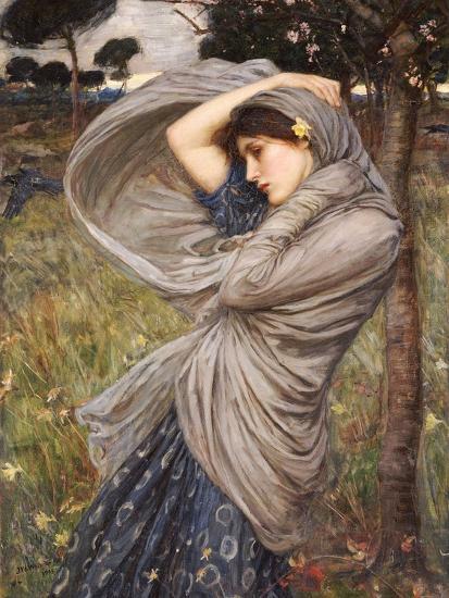 Boreas-John William Waterhouse-Premium Giclee Print