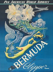 Bermuda by Clipper - Pan American World Airways by Boris Artzybasheff