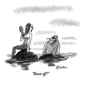 """Buzz off!"" - New Yorker Cartoon by Boris Drucker"