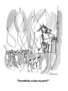 """""""Somebody swipe my pen?"""" - Cartoon by Boris Drucker"""