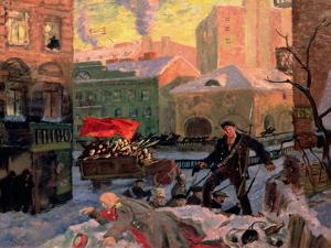 February 27, 1917, 1917 by Boris Kustodiyev