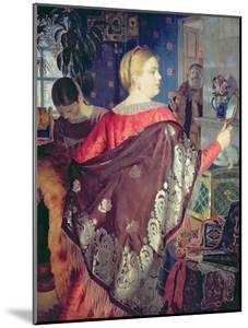 Merchant's Woman with a Mirror by Boris Kustodiyev