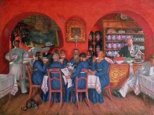 Moscow Cafe, 1916 by Boris Kustodiyev