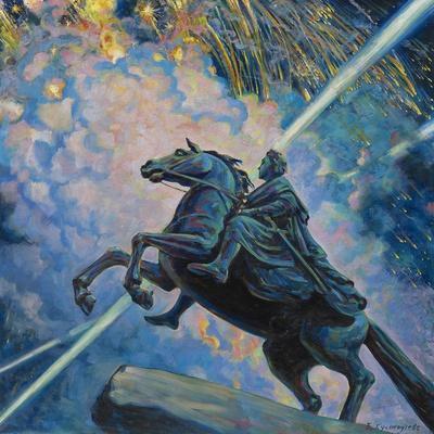 Fireworks. the Bronze Horseman