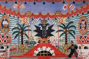 Stage Design for the Theatre Play the Flea by E. Zamyatin, 1925-1926 by Boris Michaylovich Kustodiev