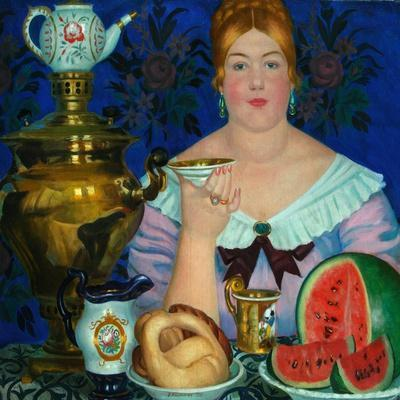 The Merchant's Wife Drinking Tea, 1923