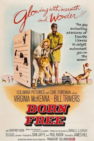 Born Free, Virginia Mckenna, Elsa the Lion, Bill Travers, 1966--Art Print