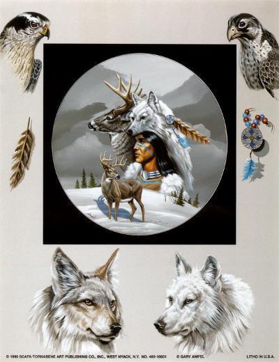 Born Hunters-Gary Ampel-Art Print
